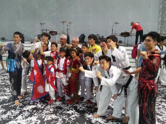 Nepali Taekwondo Team our children at Korea