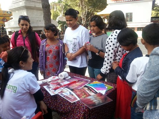 Participating in Health Camp held in Kathmandu