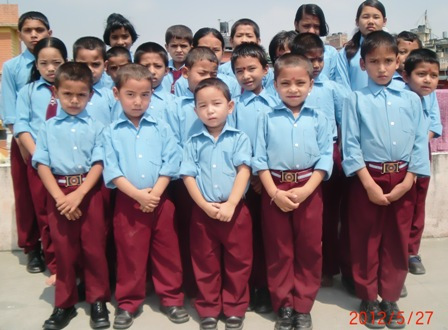 Children with school dress