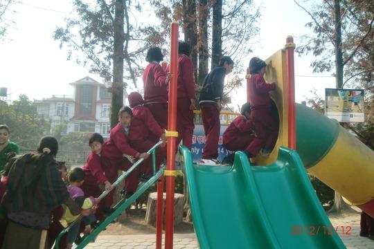 Children at fun park