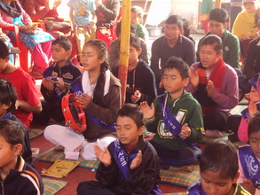 Children meditating....