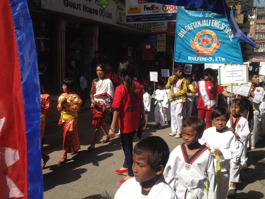 Childern participating in Rally