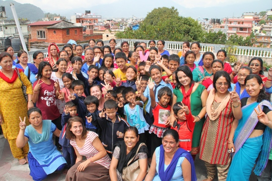 Group photo of the women and girls