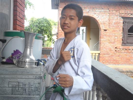 Taekwondo pose