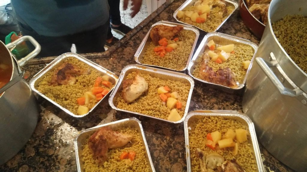 Food ready to distribute