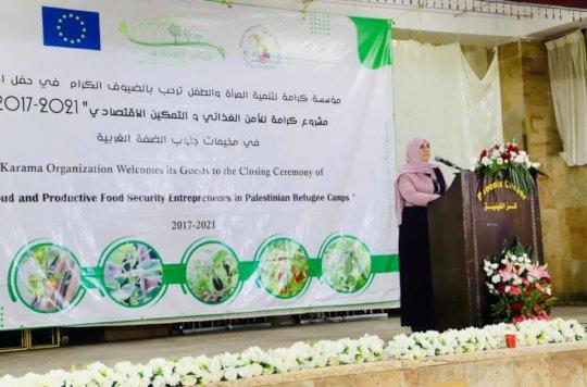 Karama's closing ceremony included women sharing