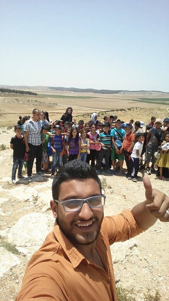Ghassan on our summer trips - always active!