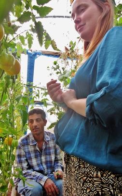 Hearing about gardens from Karama director Yasser
