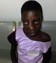Agnes after receiving treatment.