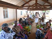 Outreach screening event in Tanzania