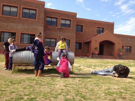 Girls playing at CADI