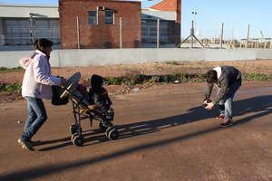 Olga with Rosi and Nacho on their way to CADI