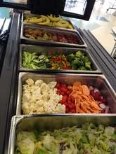 The salad bar at Mt. Horeb Area Middle School