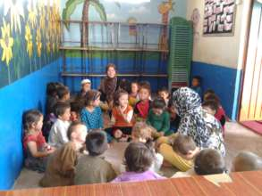 Circle time at the Child Development Center.