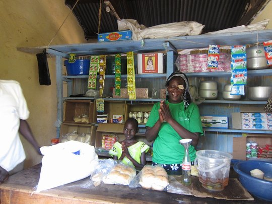Beneficiary in her retail shop