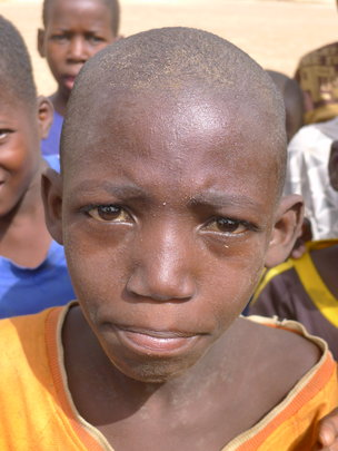 A young student in Niger
