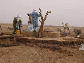 Herders walk many miles to find a well