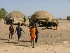 Tuareg children at home