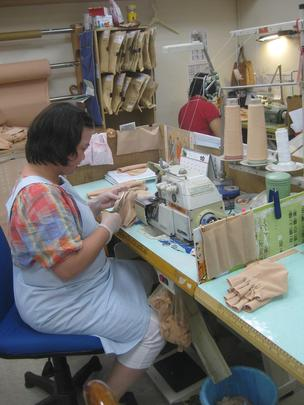 Sewing the pressure bandages