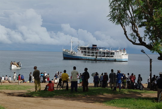 Ilala Ferry leaving for Likoma