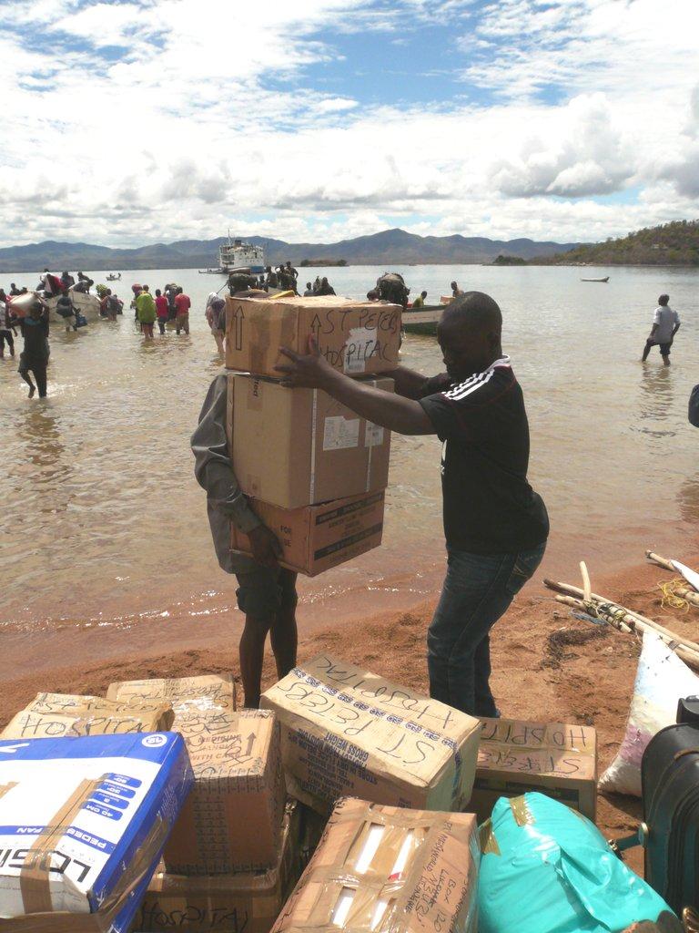 African Steps sends regular shipments of supplies