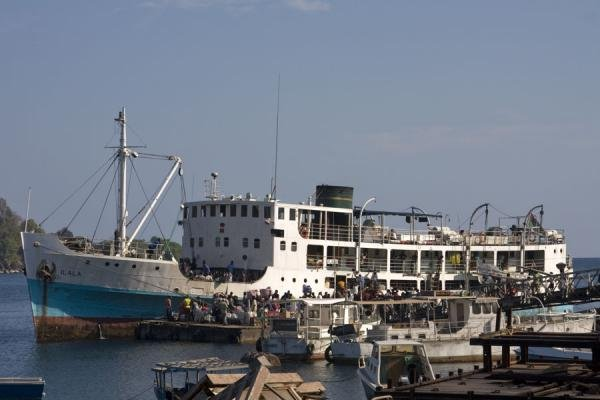 Ilala Ferry being loaded