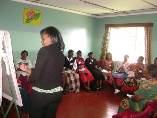 Training women in the community