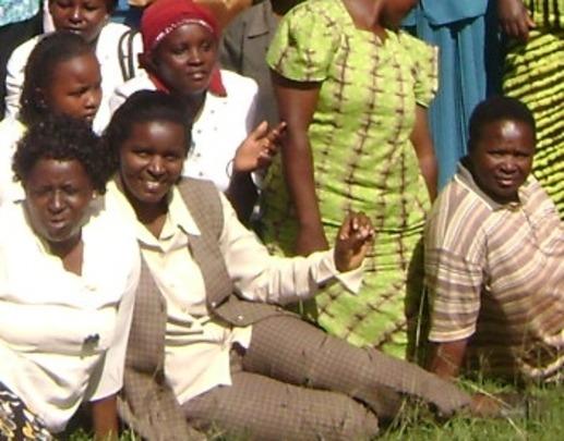 A group of SAWA beneficiaries