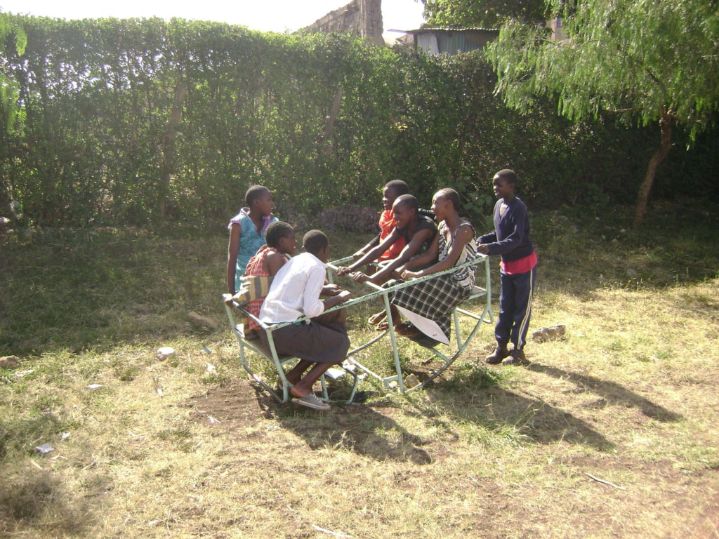 Girls benefitting from mentoring project