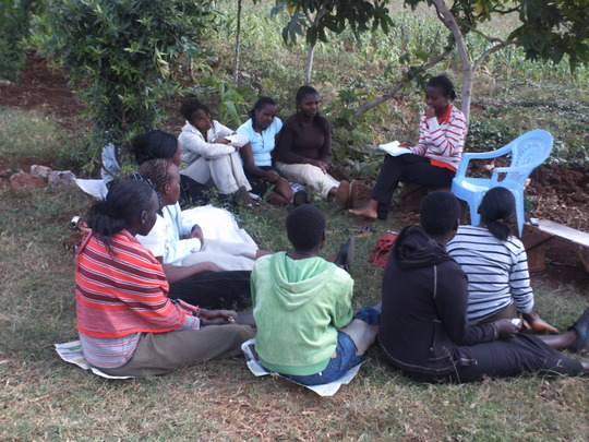 Mentees having a group discussion