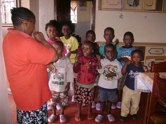 some children we visited at the childrens home