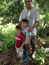 Jose Gonzalez and his two nephews, volunteers all