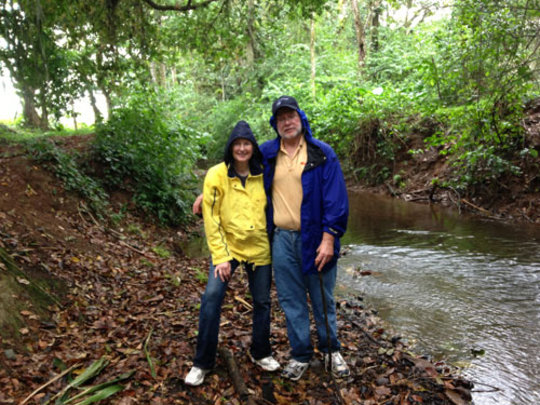 Tom and Sharon Miller, board member, at Rio Sol