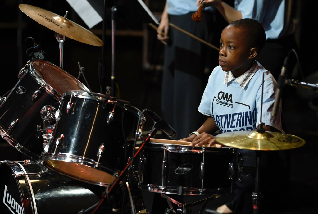 This drummer keeps a steady beat!