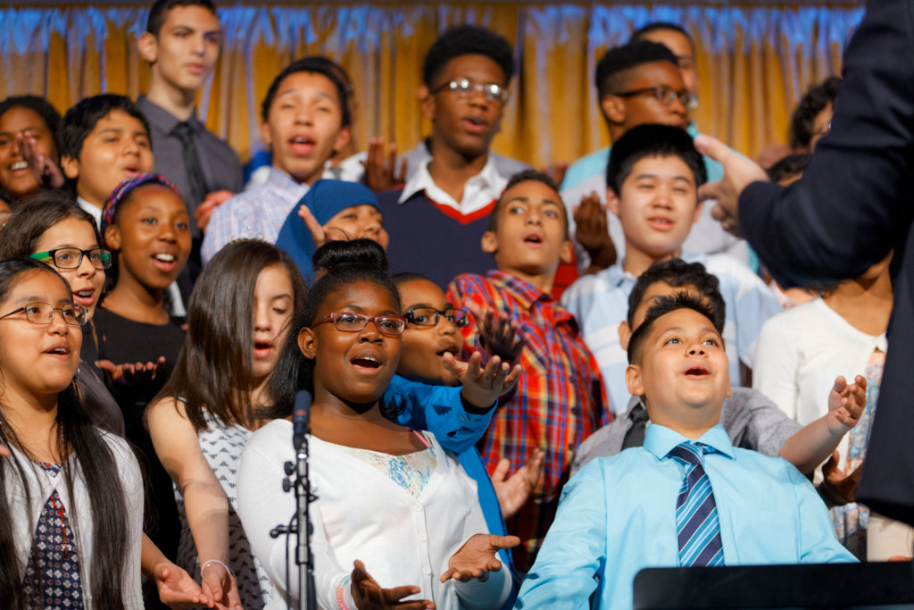 Choir students sing with passion!