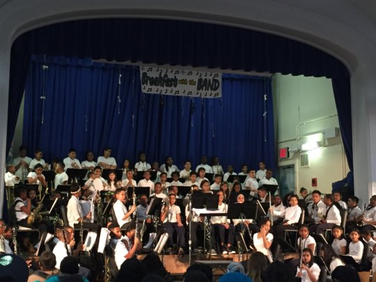 5th graders are eager to start their band concert!