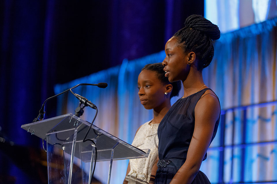 Edna and Mitchelle shared their story at our Gala.