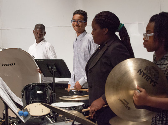 Percussionists keep the beat!