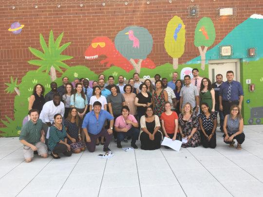 Music teachers pose at ETM Academy!