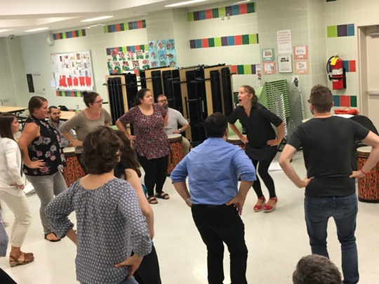 Music teachers are trained on movement!