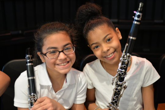 Clarinet players are all smiles after a concert!