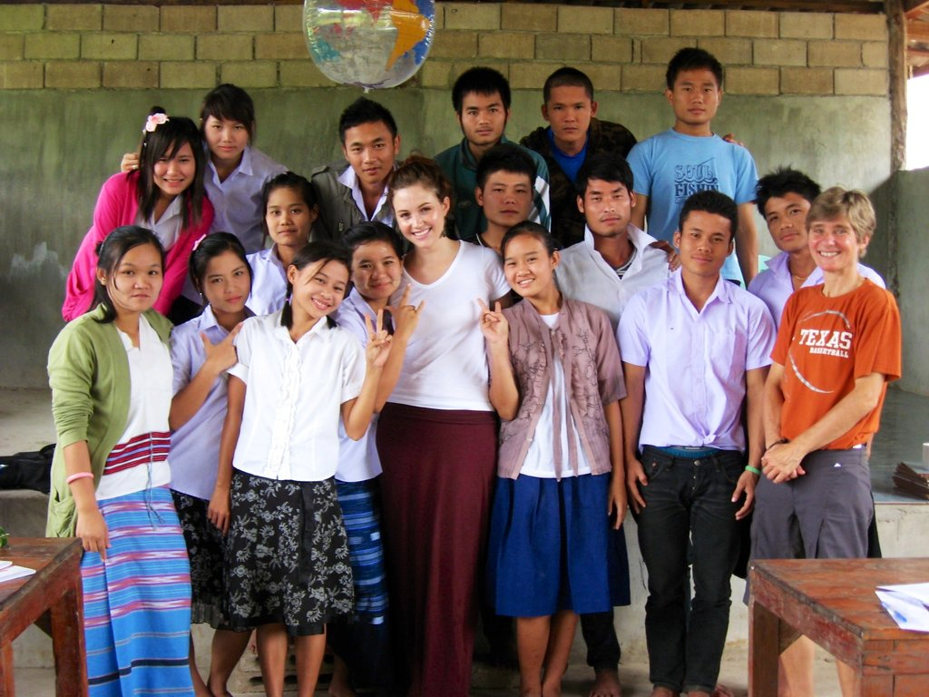 BVP volunteer Alexa with her students!