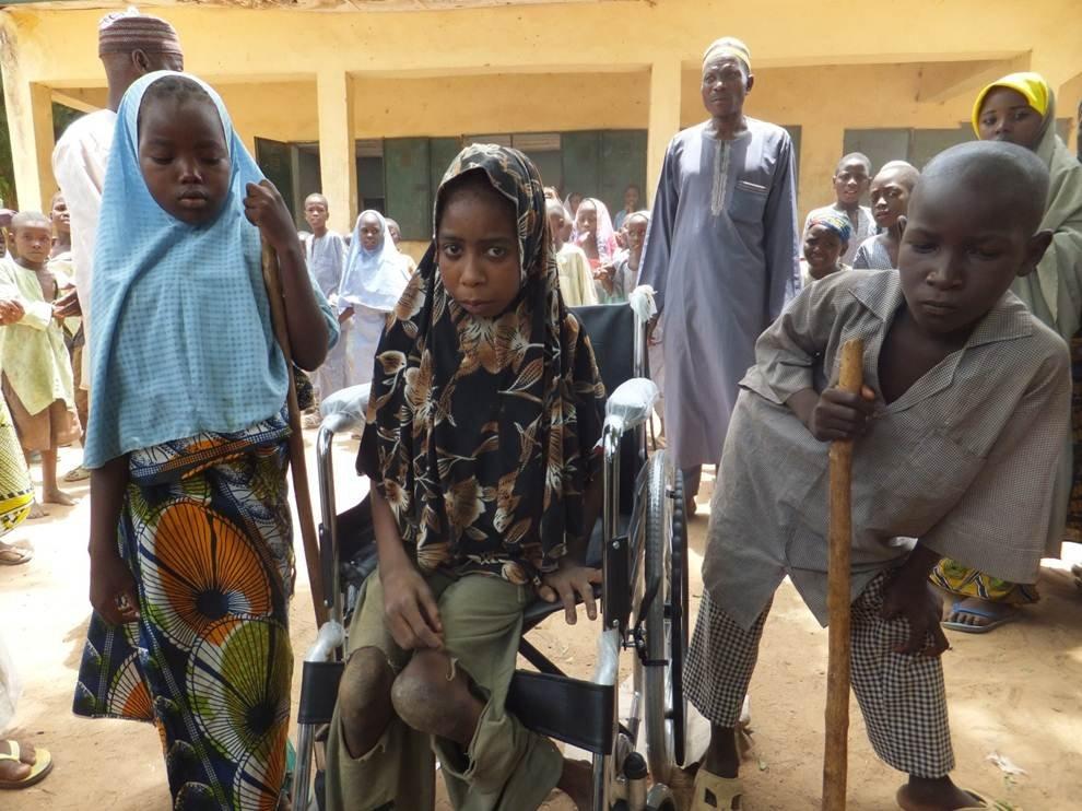 Hajara & 2 Children with disabilities