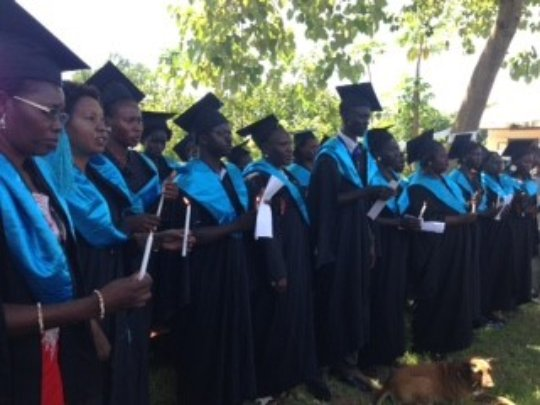 Ceremony at Kajo Keji Health Sciences Institute