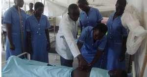 Hands on training at Kajo Keji, South Sudan