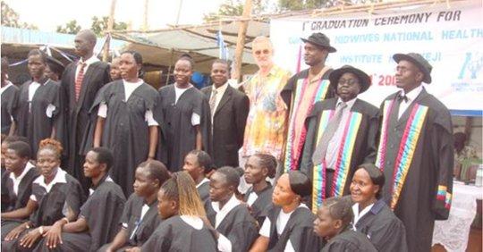 Graduation day at Kajo Keji, South Sudan