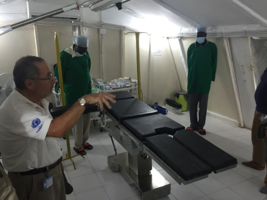 International Medical Corps' operating room before