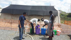 Preparing Cholera disinfectant