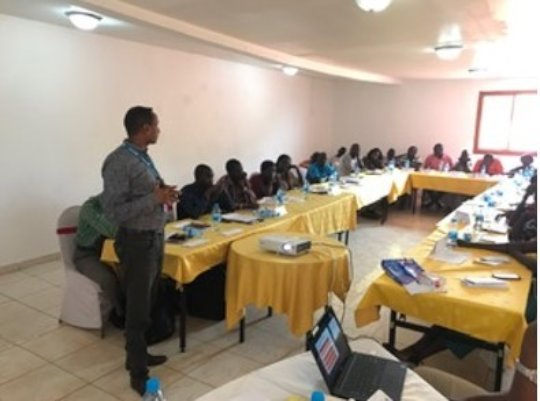 Attending the Ebola preparedness workshop.