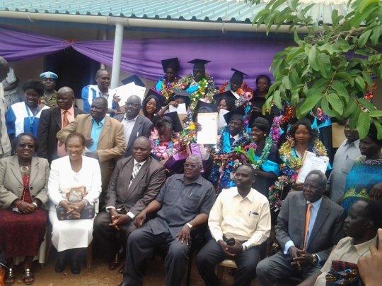 Graduation at the Wau Health Sciences Institute